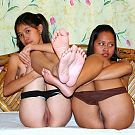 Filipina Manilyn and Shane getting ready for their lesbian porn debut